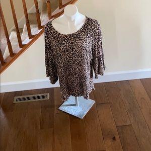 Apt 9 XXL leopard print top